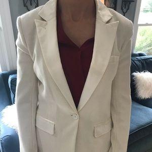 Tory Burch ivory tuxedo style blazer